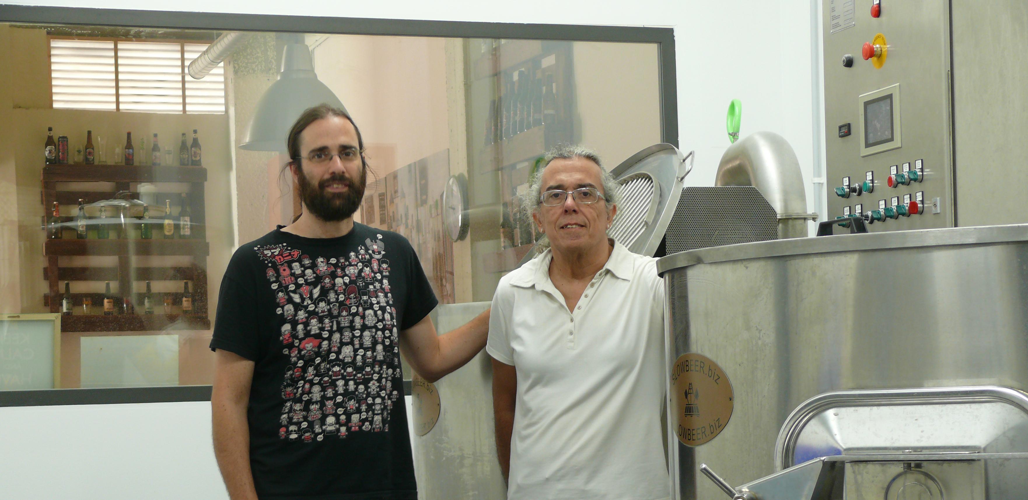 Amb en Francesc de Cerveses CESC al nostre obrador, La Cervesera del Poblenou, la primera cervesera ecològica de Barcelona ciutat
